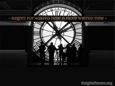 Regret For Wasted Time Is More Wasted Time Mason Cooley Quotes