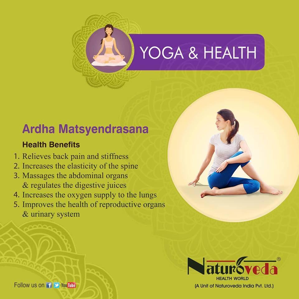 Ardha Matsyendrasana Health Benefits Yoga Facts Brain Yoga Yoga Health