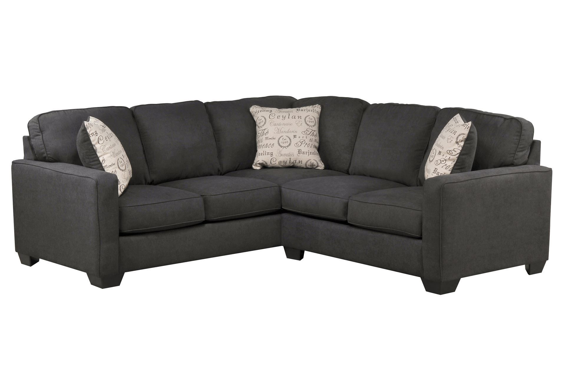 Best Alenya Charcoal 2 Piece Sectional W Raf Loveseat 400 x 300