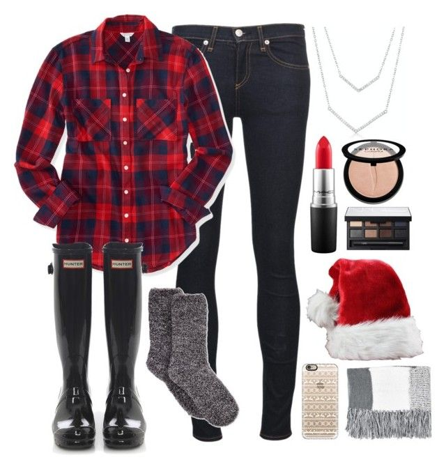 """12 Days of Christmas Challenge//Read D"" by kennagracee ❤ liked on Polyvore featuring rag & bone/JEAN, Charter Club, Aéropostale, Hunter, MAC Cosmetics, Sephora Collection, NARS Cosmetics, Casetify and Topshop"