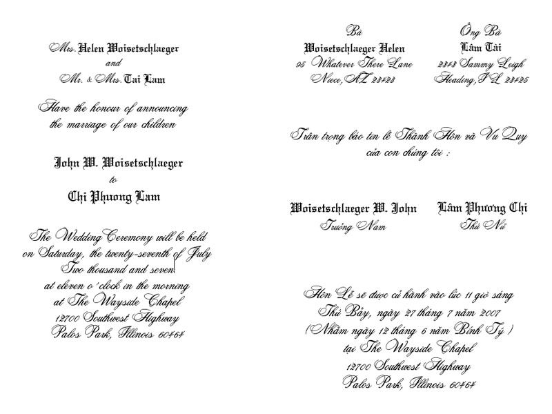 vietnamese wedding invitations thiep cuoi by ap printing - Vietnamese Wedding Invitation