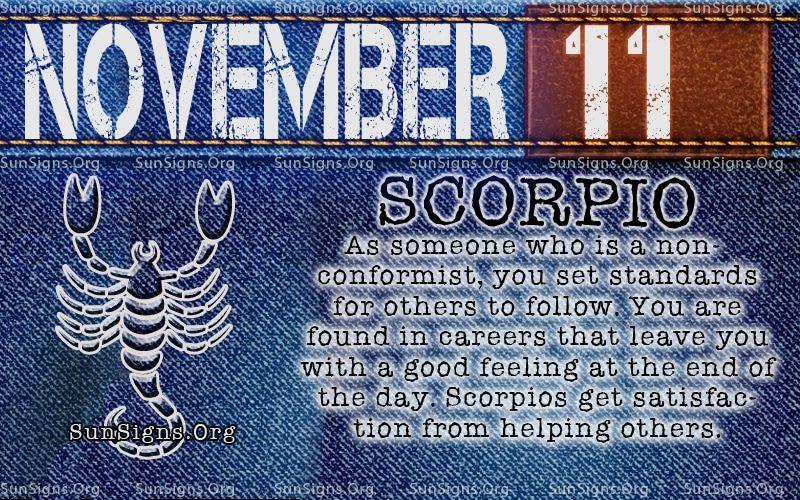 astrology of 11 november