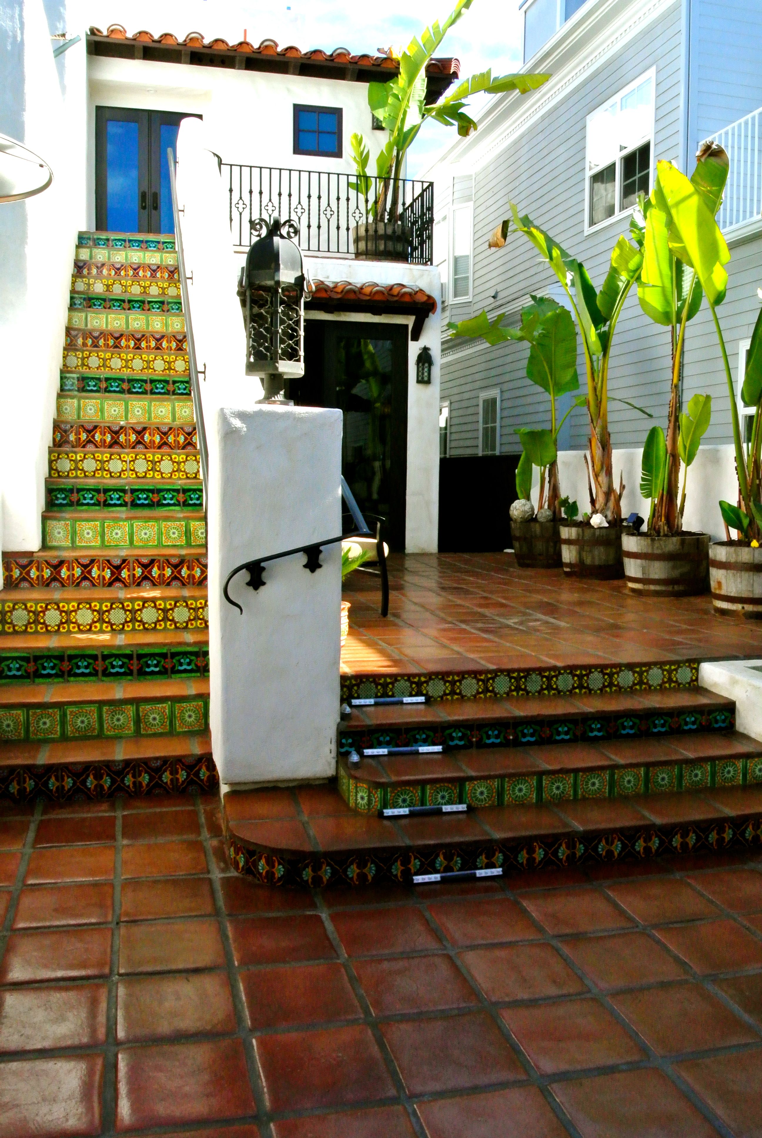 Decorative Patio Tiles Cool Patio Project With Hand Painted And Handcrafted Talavera Inspiration