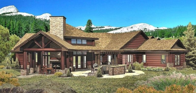 Whistler View   Log Homes, Cabins And Log Home Floor Plans