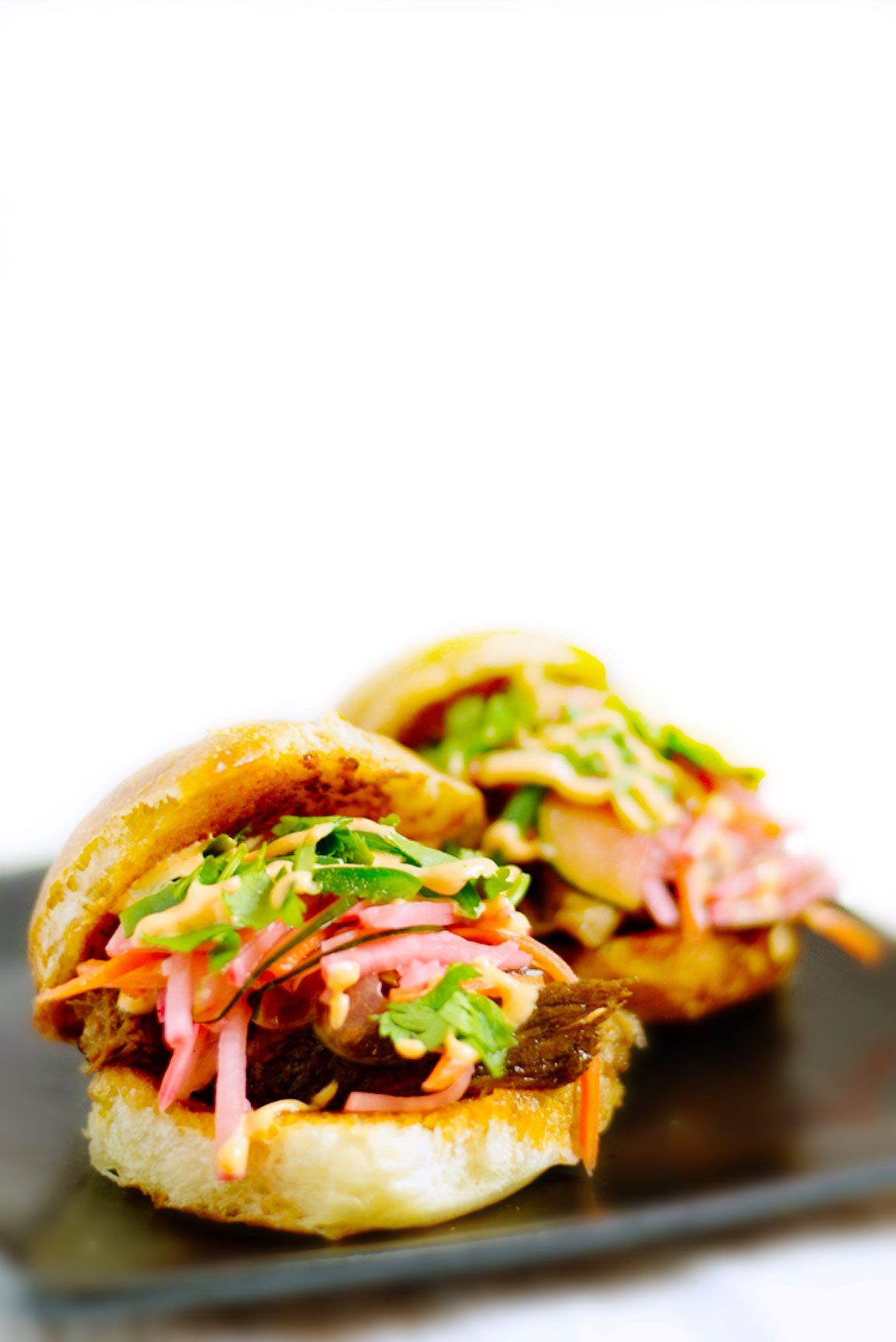 Pork Banh Mi Sliders | That Square Plate