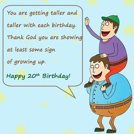 Birthdays Wishes For A Son 20th Birthday Happy Sayings