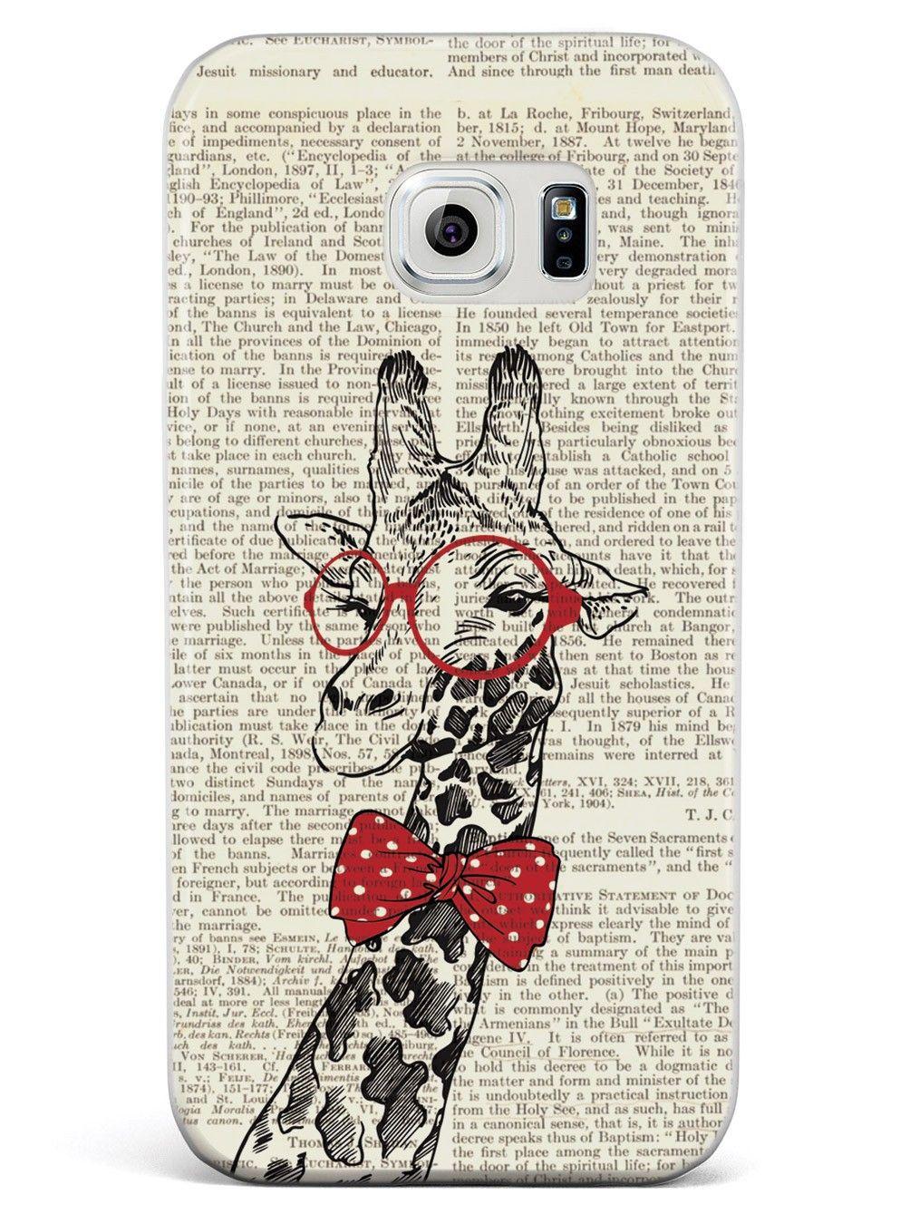 Nerdy Giraffe - Vintage Encyclopedia Page Case for Galaxy S6