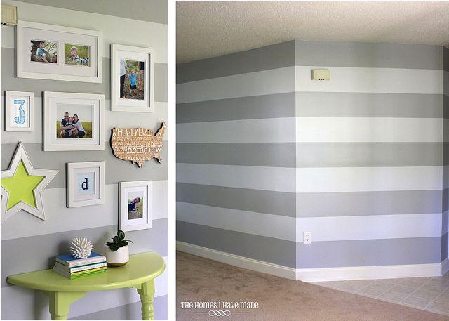 Too Many Stripes Striped Walls Striped Walls Horizontal Grey