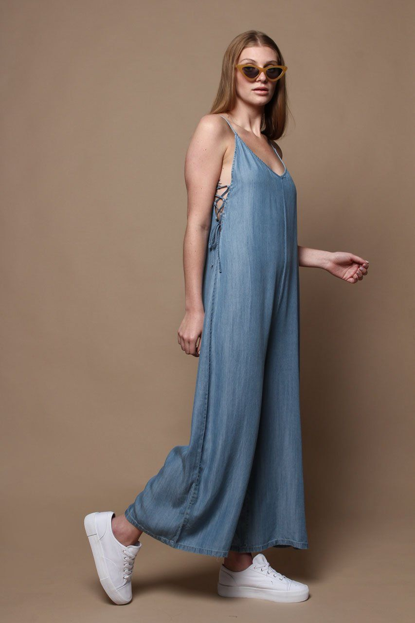 e19720127f56 Easy Does It Wide Leg Chambray Jumpsuit