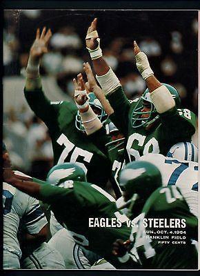 1964 Philadelphia Eagles Pittsburgh Steelers Program October 4 Franklin Field