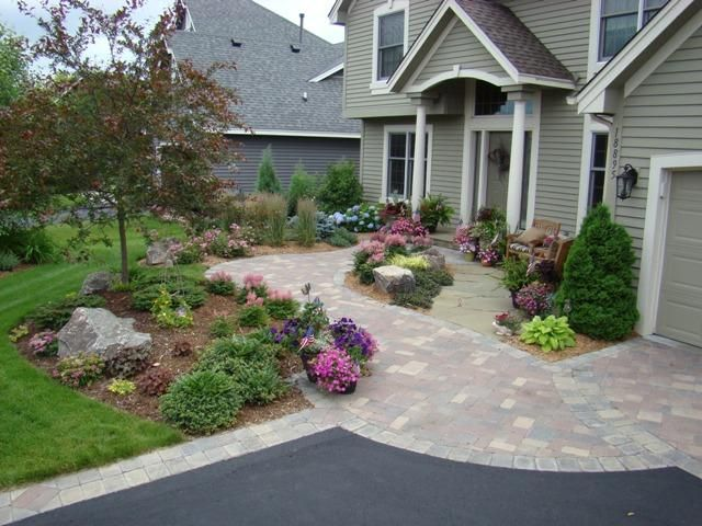 Beautiful Front Yard Hardscape Ideas Part - 11: Unique Hardscape Front Entry.jpg Provided By Abundant Lawn U0026 Landscape Co.  Durham 27713