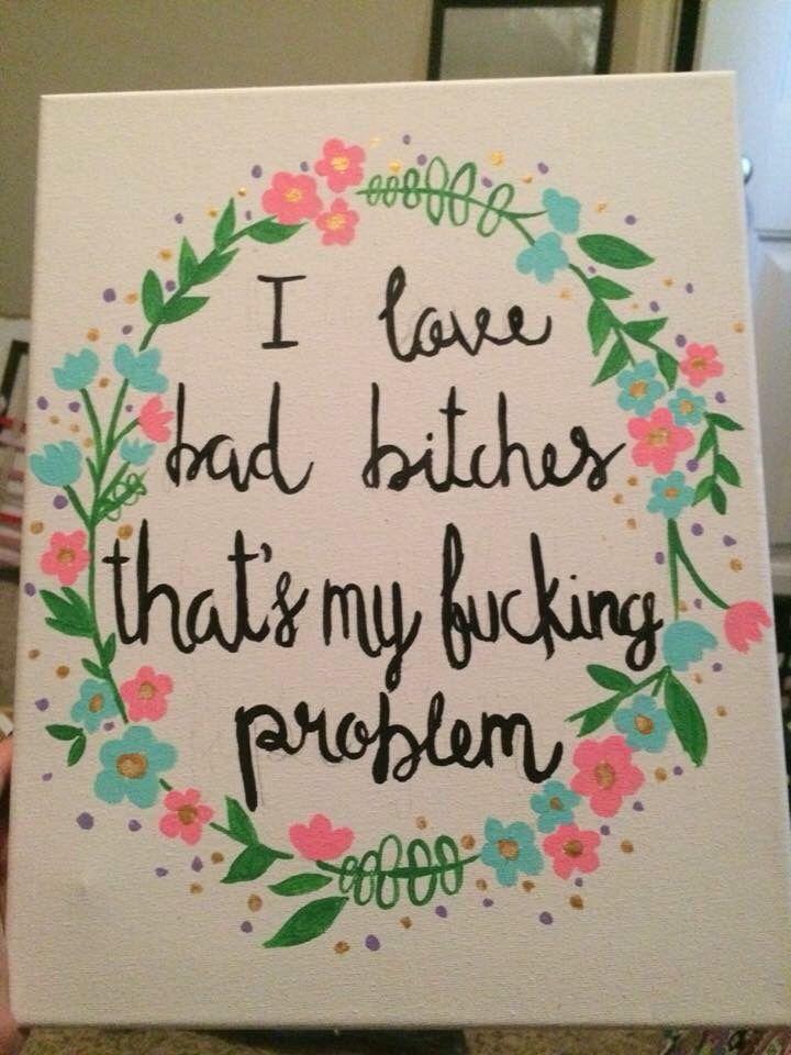 Floral Laurel Wreath Rap Lyrics Quote Canvas Quotes Pinterest