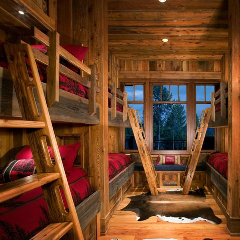 Hunting Lodge Decor Design Ideas Pictures Remodel And Decor Cabin Style Cabin Bedroom Kids Bedroom Rustic