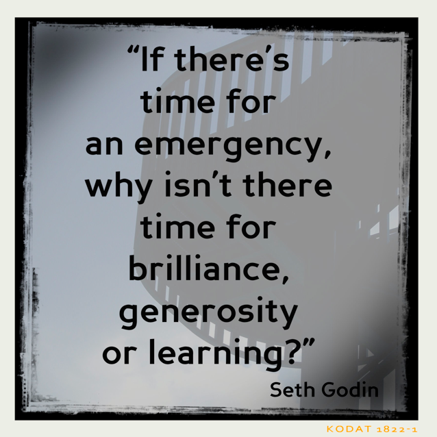 (Ouch!) #sethgodin #quotes #businessquotes #learning #time #emergency