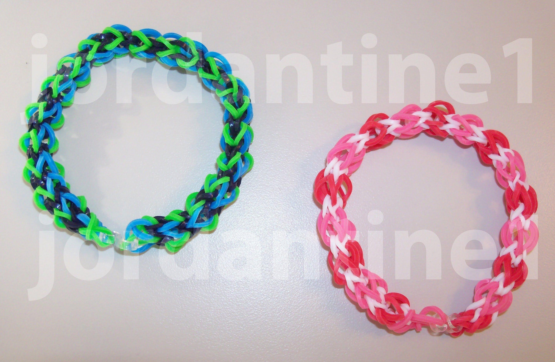 prix réduit correspondant en couleur enfant New Over Easy Bracelet - Beginner Level - Rainbow Loom ...