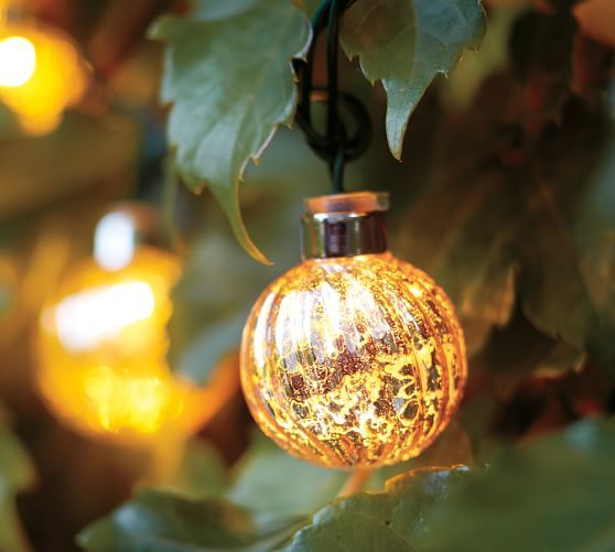 Mercury glass globe string lights pottery barn random pins 2 pinterest globe string lights and mercury glass