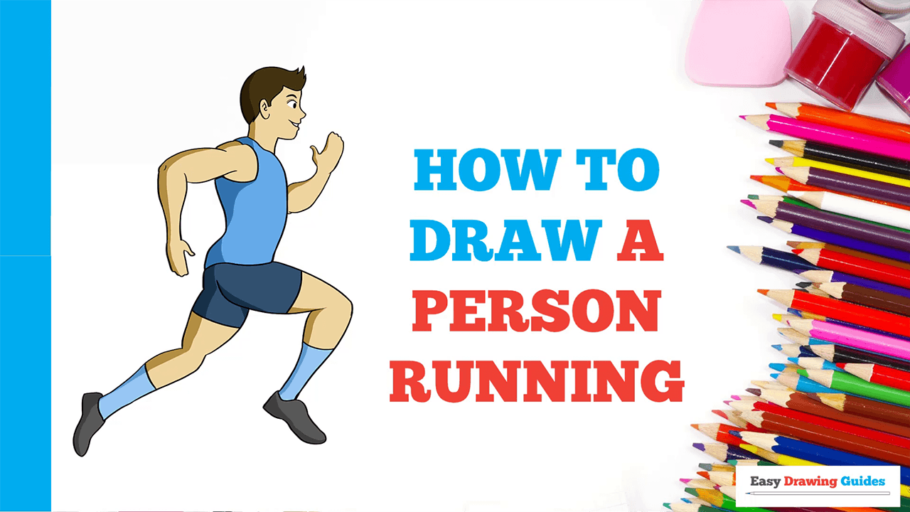 How To Draw A Person Running Really Easy Drawing Tutorial In 2020 Drawing Tutorial Easy Easy Drawings Drawing Tutorial