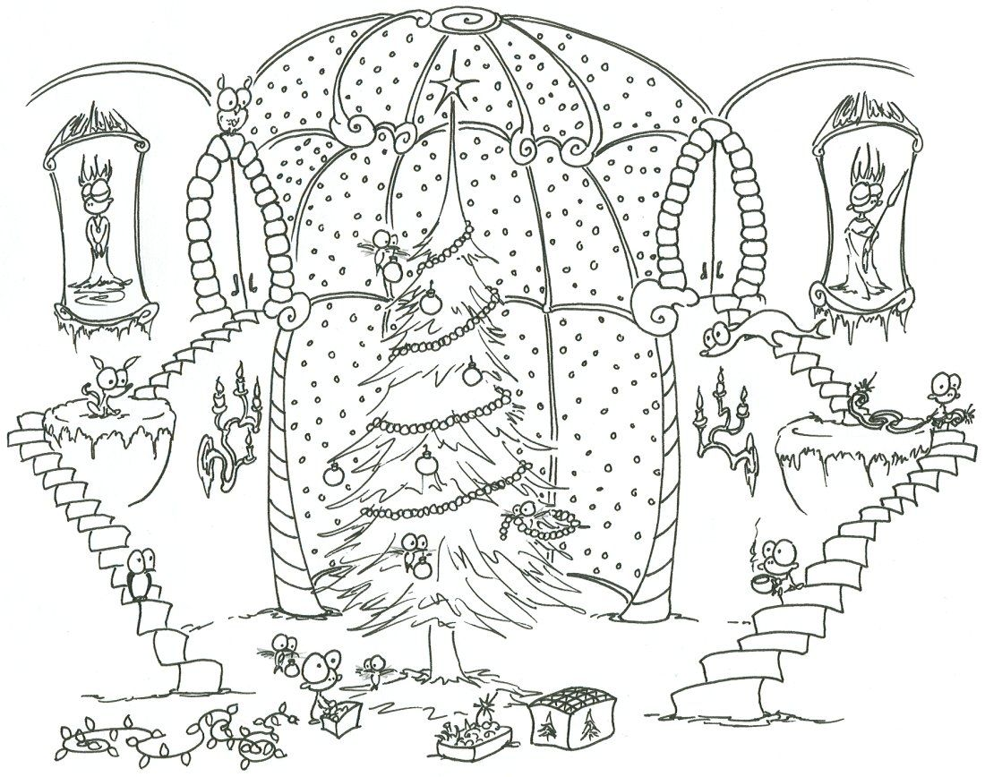 Coloring Pages Hard Chistmas Tree Download