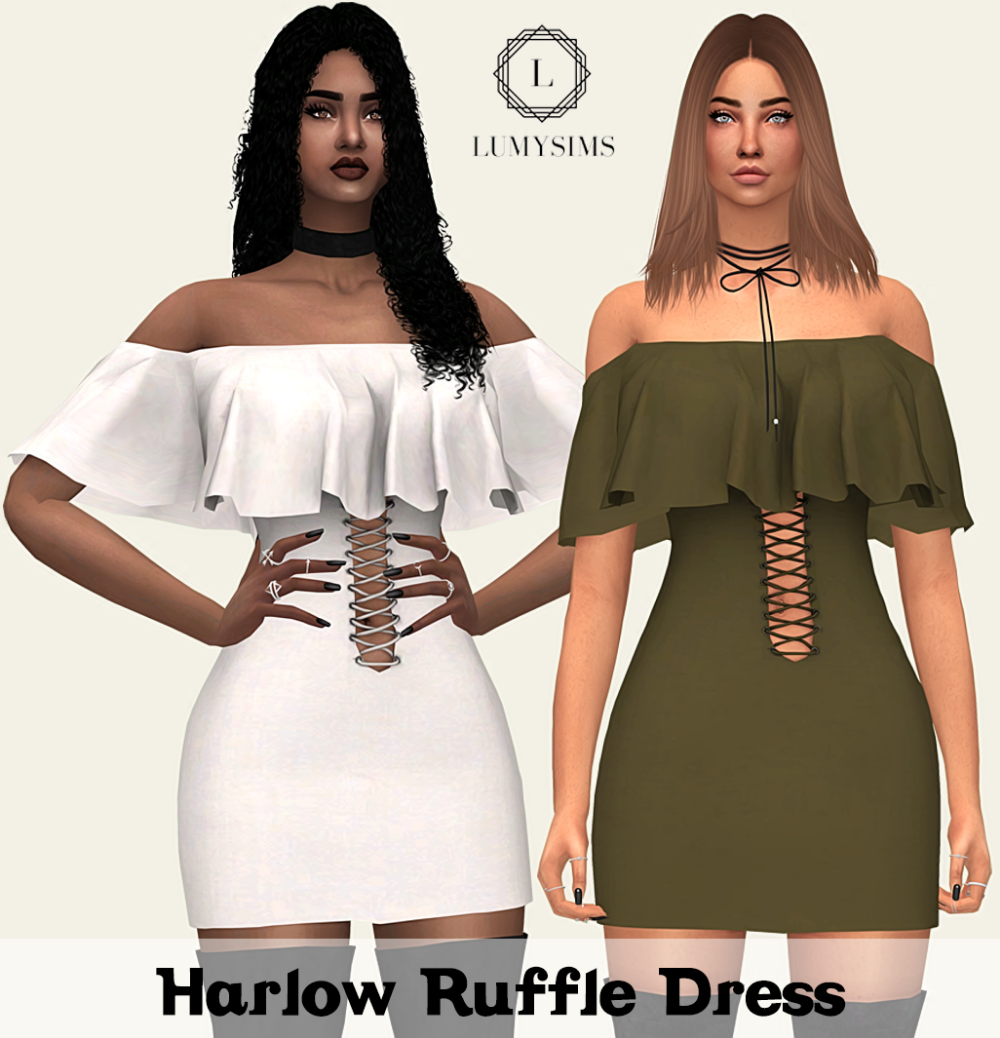 Lumy-sims: Harlow Ruffle Dress