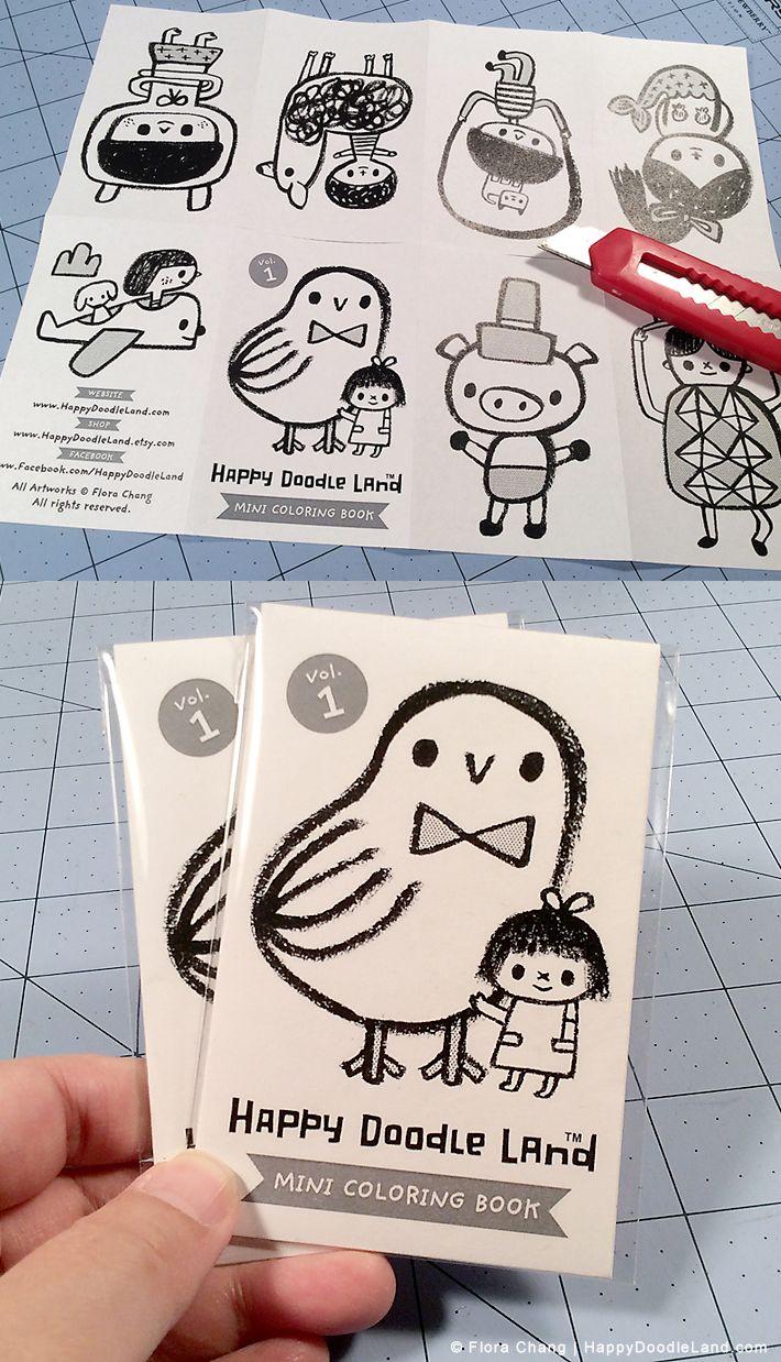 Mini Coloring Zine By Flora Chang Bonus Gift For Print Purchases At Happydoodleland Etsy Shop Happy Doodles Art Zine Zine Design