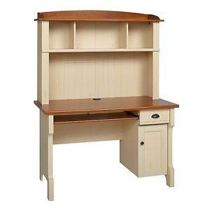 Shore Mini Solutions Computer Desk With Hutch Antique