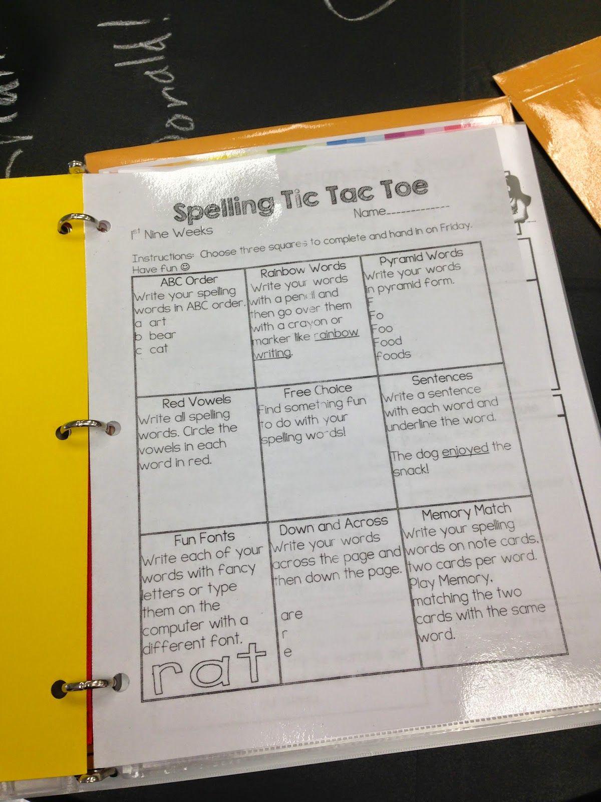 First Grade Homework Packets And Oz Binder