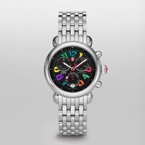 MICHELE CSX-36 Day Carousel Non-Diamond, Black Dial MICHELE. $625.00. Crystal Type - Mineral. Water Resistant - 5 ATM. Case Size - 36 mm. Strap Size - 18 mm