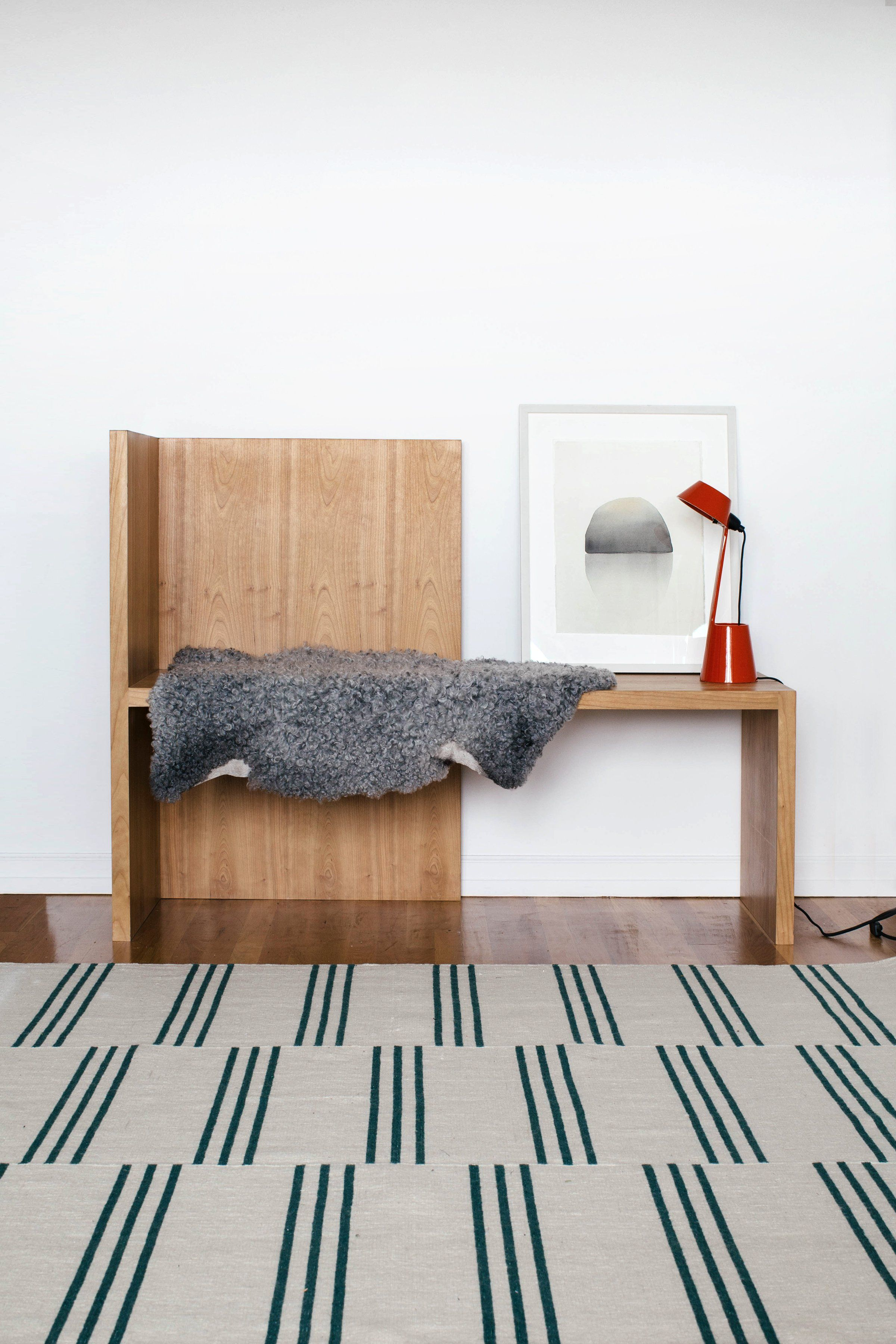Stripes In Cream Green Rug By Nordic Knots 2019 Mom S