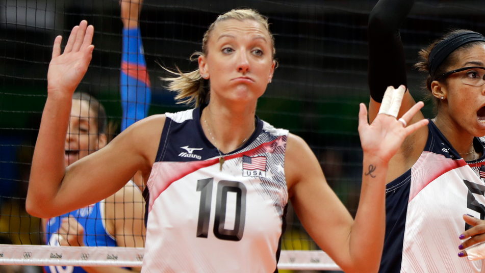 How Usa Volleyball Star Jordan Larson Earned The Nickname The Governor Usa Volleyball Female Volleyball Players Olympic Volleyball