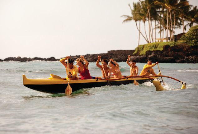 outrigger canoe in Hawaii
