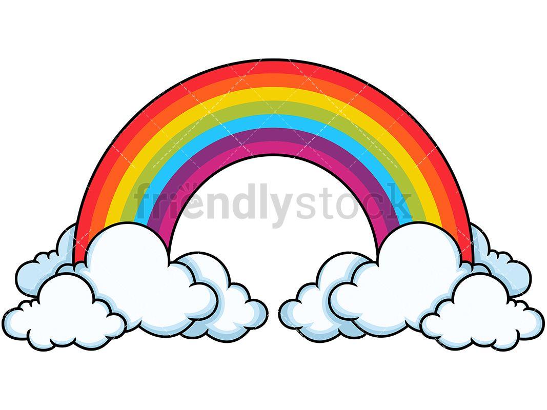 Tall Rainbow In The Clouds Rainbow Bible Clip Art Rainbow