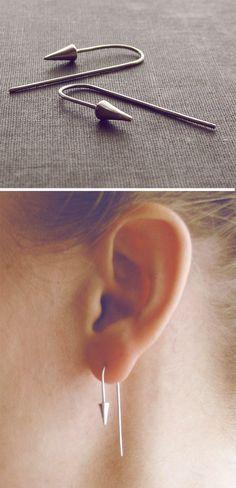 Spike hook earrings