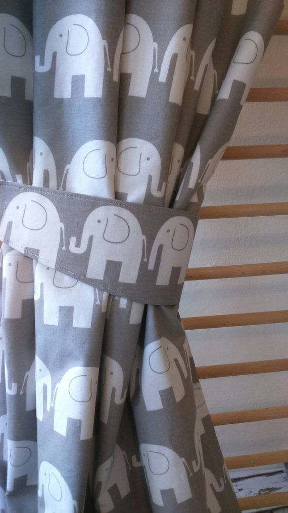 Amazing Elephant curtains nursery curtains baby s room curtains Plan - Model Of Nursery Curtains Pictures