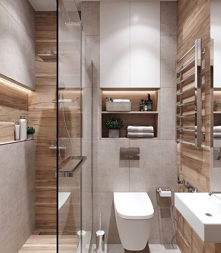 Photo of Walk in shower in a small bathroom – design ideas for limited space