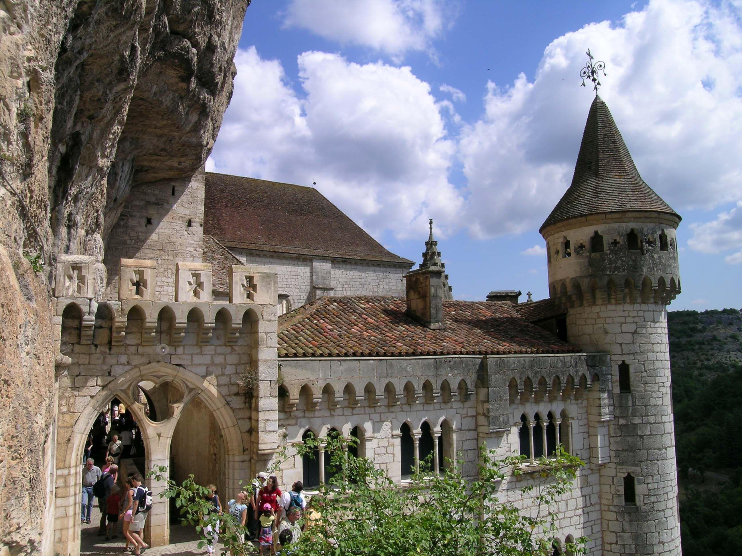 Palais des eveques. Rocamadour, Gramat, Gourdon, Lot, Midi
