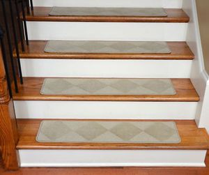 Best Dean Premium Carpet Stair Treads Diamond Beige 35 400 x 300
