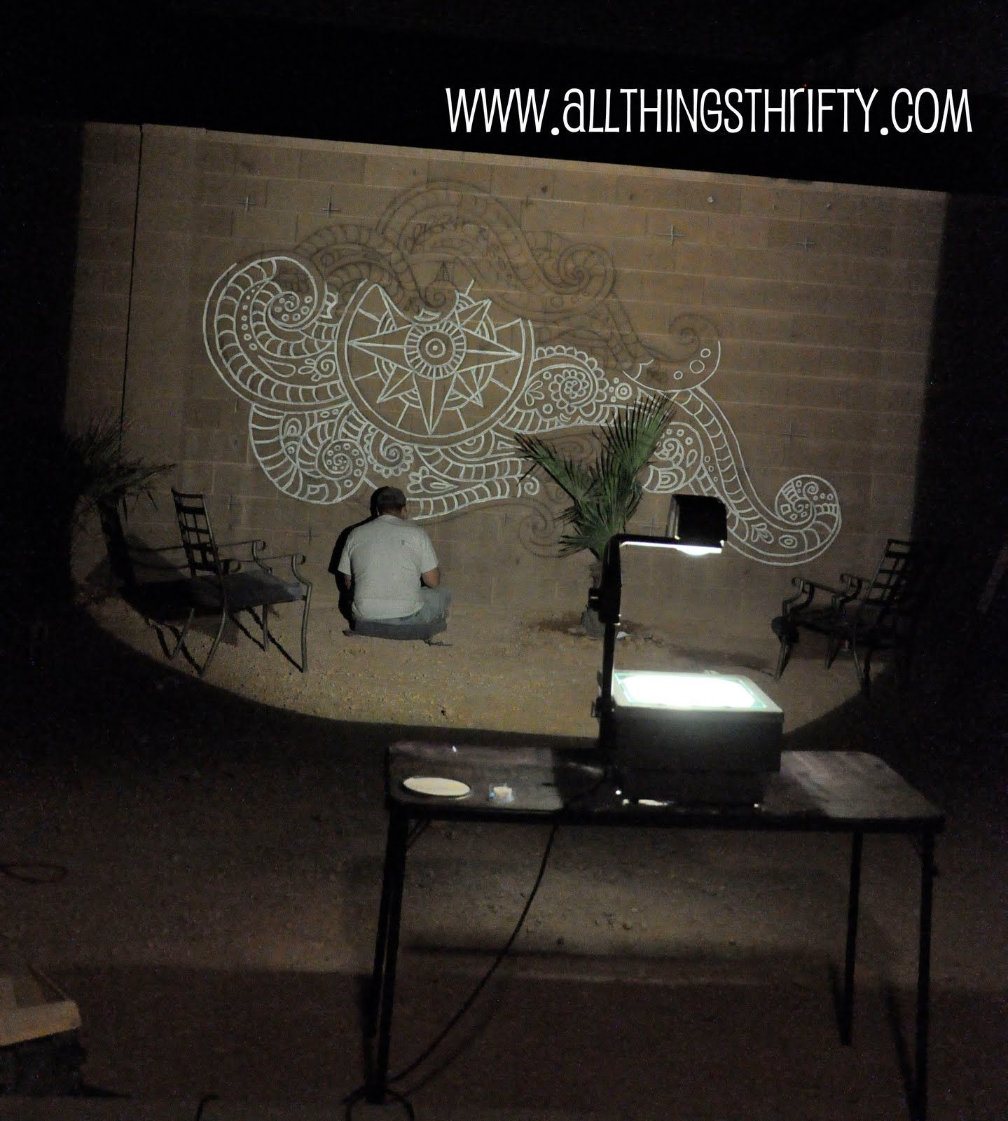 Dress Up Your Backyard Fence/blockwall For Less Than $20.00! Overhead  ProjectorOutdoor DecorOutdoor IdeasBackyard FencesMuralsWall ... Part 38