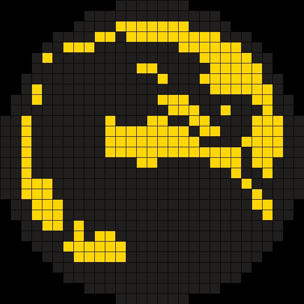 Mortal Kombat Logo Perler Bead Pattern