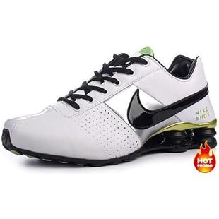 timeless design 488e8 cb443 Mens Nike Shox Deliver White Green Black Silver
