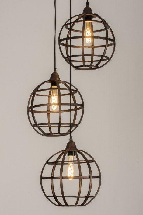 Hanglamp 11803 Industrie Look Landelijk Rustiek Hanglamp Verlichting Jaren 30 Woning Landelijke Lampen
