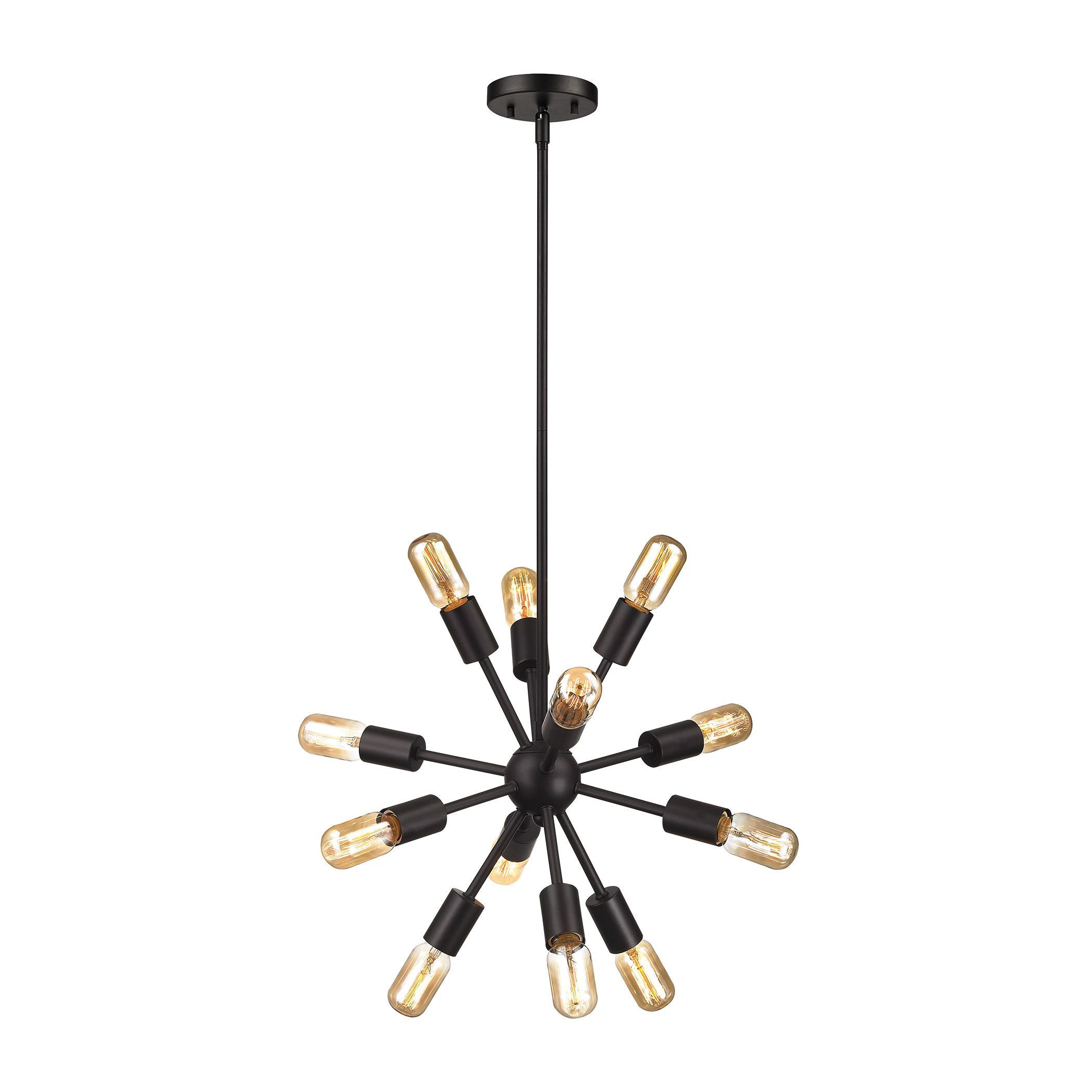 Customer image zoomed farmhouse light pinterest coffee shop a sculptural statement with futuristic influences the kendall mini chandelier exudes mod molecular style add exposed filment bulbs for industrial flair arubaitofo Images