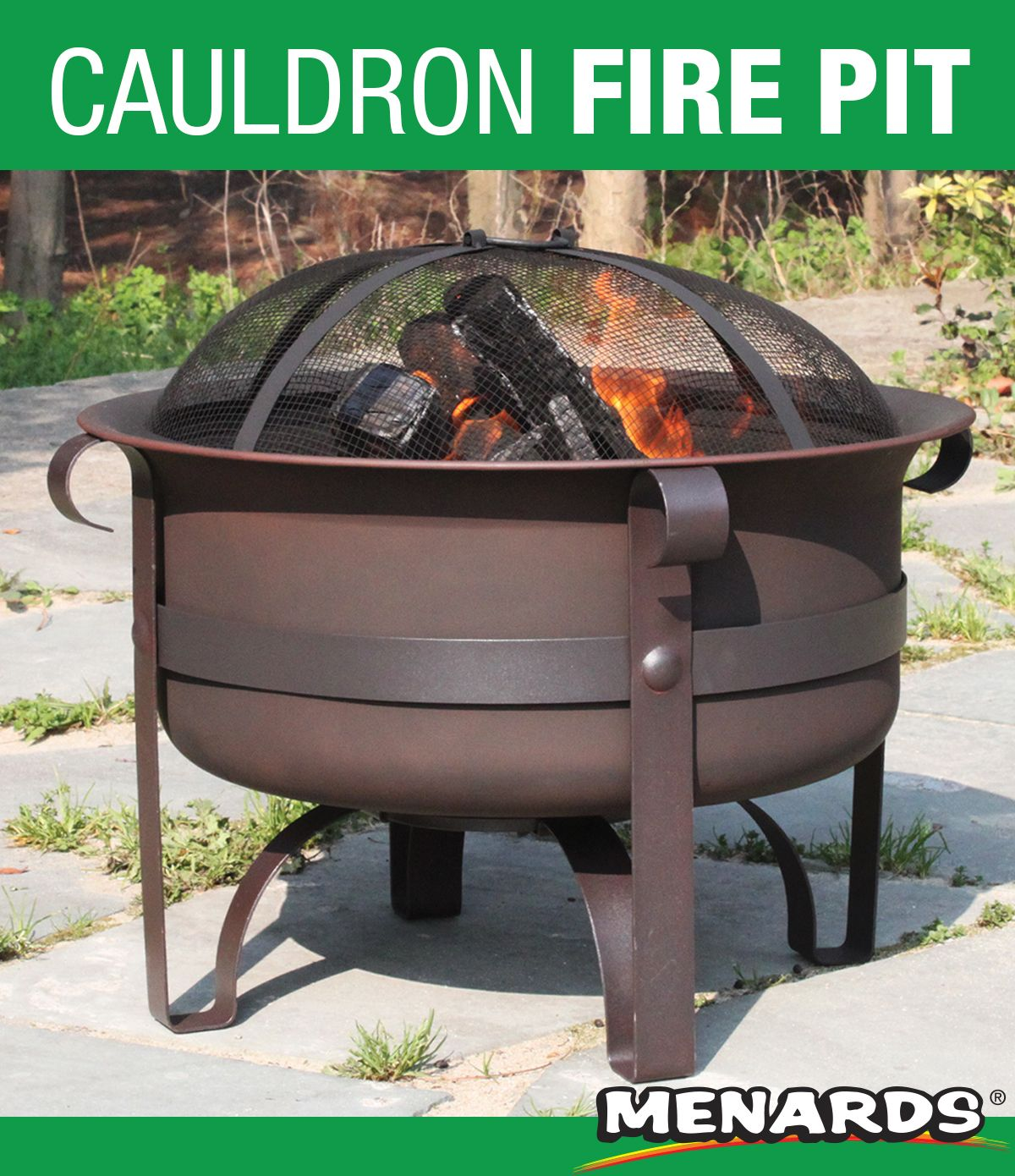 This Steel Cauldron Measures 24 In Diameter And Has A Deep Bowl Ideal For Large Fires It Features An Anti Outdoor Fire Pit Outdoor Heating Backyard Creations