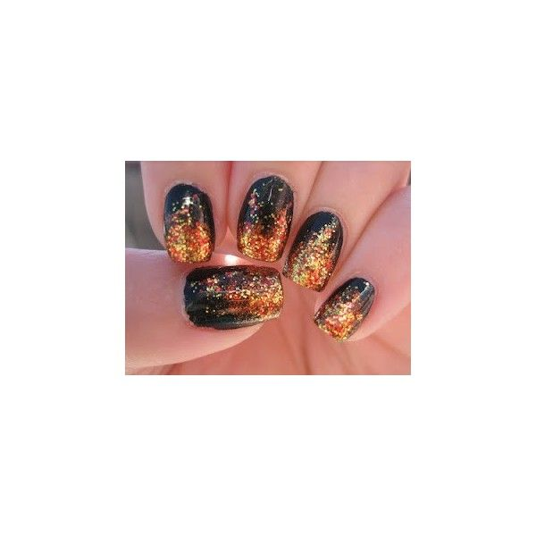 Hair, Make Up & Nails / The Hunger Games, Girl On Fire nail art ...