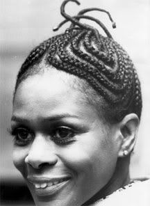 corn-row braids 60s-70s 20th