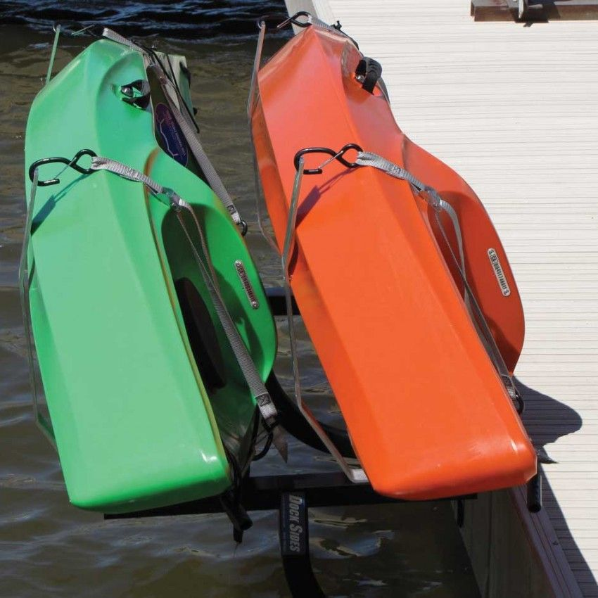 Dock sides vertical kayak rack by mc docks with images