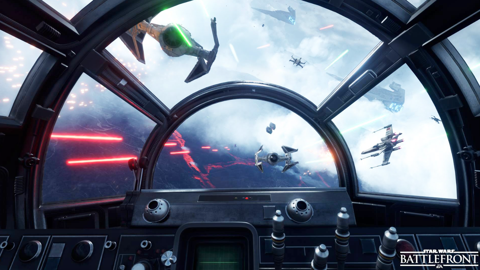 Looking Out The Window Of The Falcon Star Wars Battlefront Star Wars Battlefront