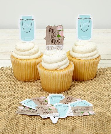 MASON JAR!!! Look at this #zulilyfind! Rustic Wedding Cupcake Topper - Set of 36 by Creative Converting #zulilyfinds