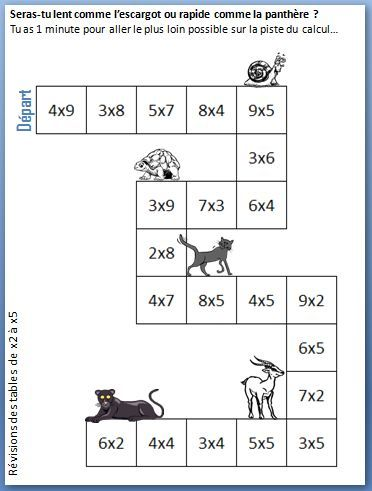 Exercice table de multiplication 2 3 4 5 6 7 la table de - Exercices sur les tables de multiplication ce ...