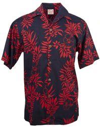 9f984a567 Go Barefoot - Mini Tahitian - Hawaiian Aloha Shirt - Navy-Red ...