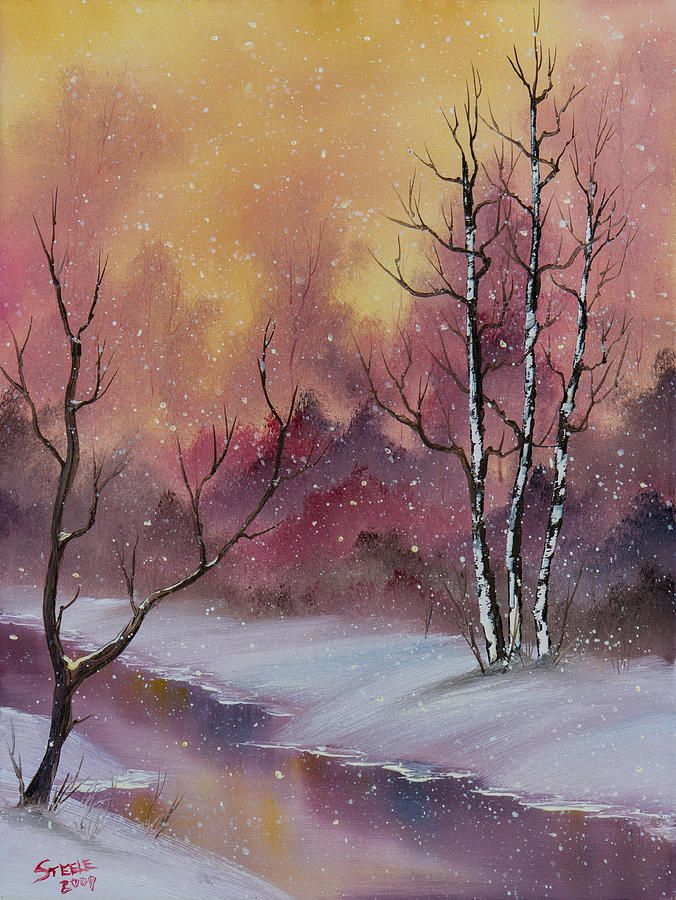 Landscape Painting - Winter Enchantment by C Steele
